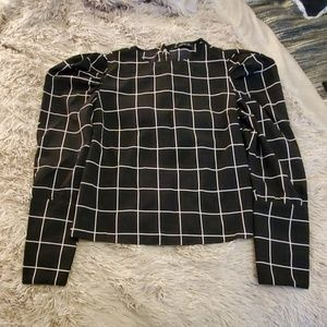 Beautiful black and white Shein blouse size M